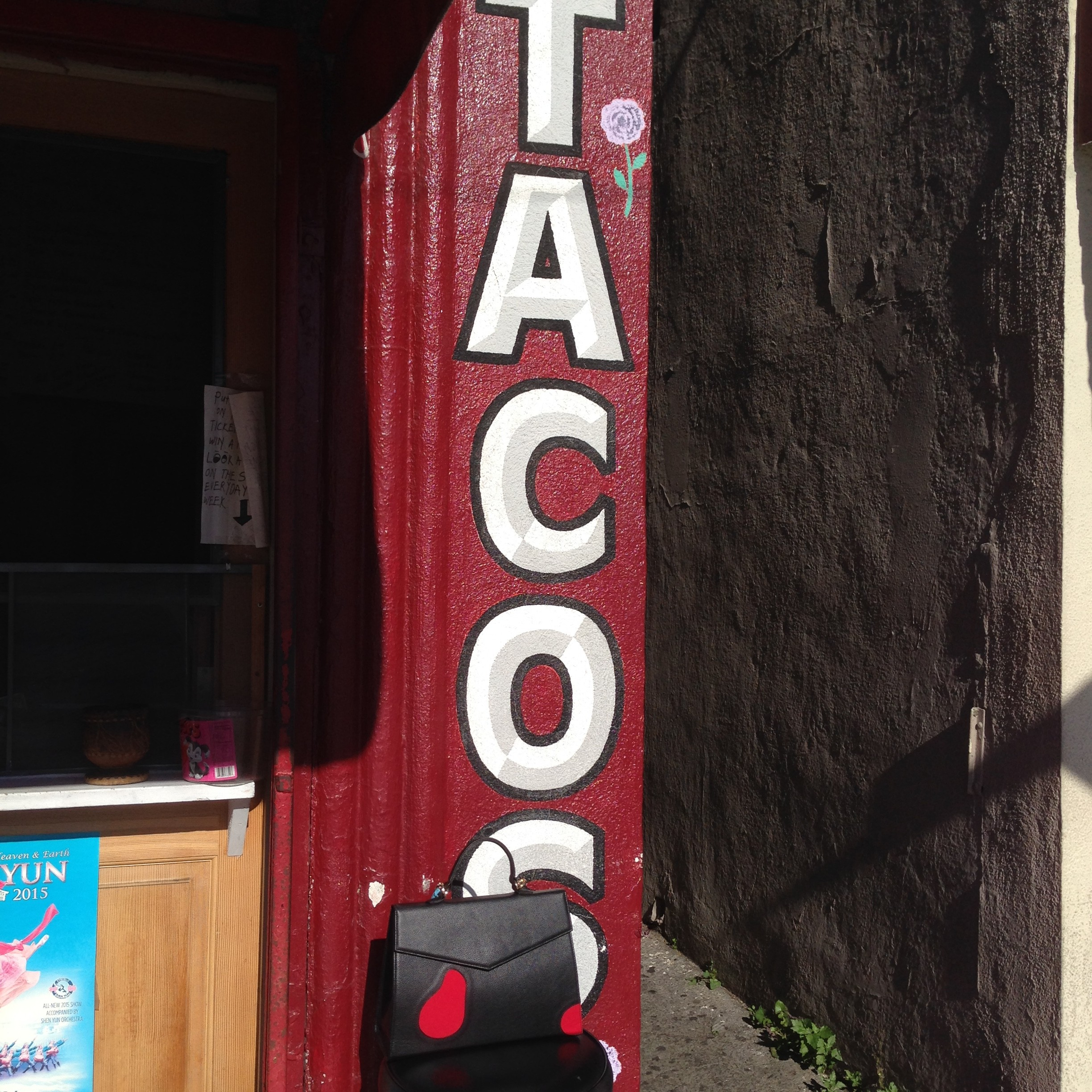 For lunch I grab a burrito at one of my favorite Mexican stands, Tacos Villa Corona.