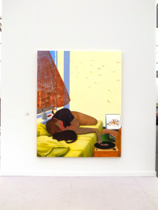 This is a great painting by Nicole Eisenmann at Anton Kern's booth.